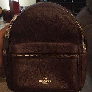 Coach mini backpack  (wine).